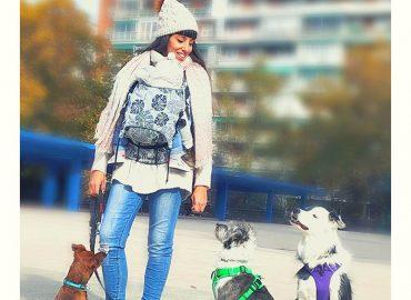 Tamara Hernández potear con perro